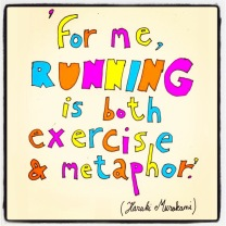 My two loves combined: running & drawing :)